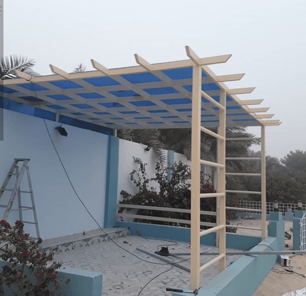 مظلات خشبية للحدائق في الرياض