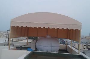مظلات تغطيه خزانات مياه الاسطح في الرياض