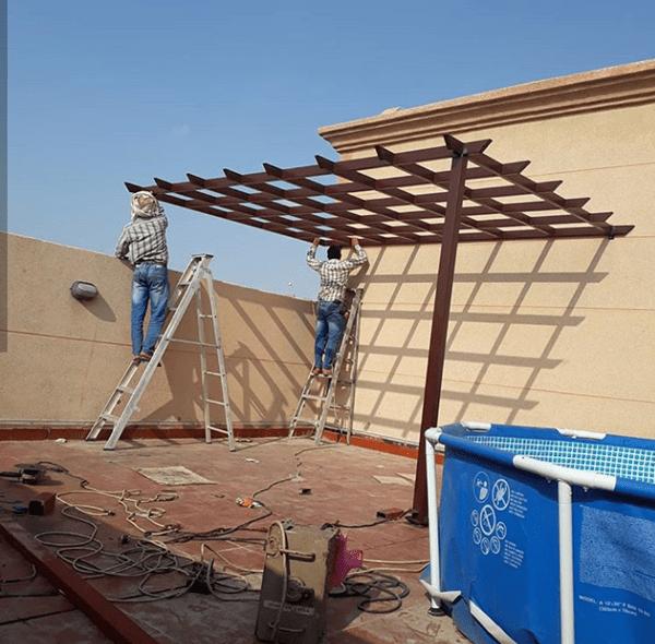 تركيب مظلات خشبية للحدائق في الرياض