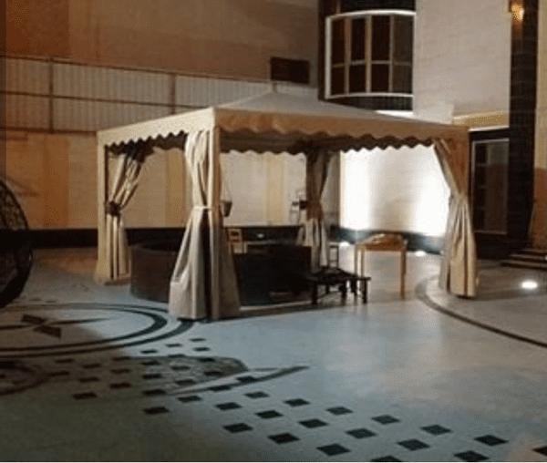 مظلات جلسات خارجية في الرياض
