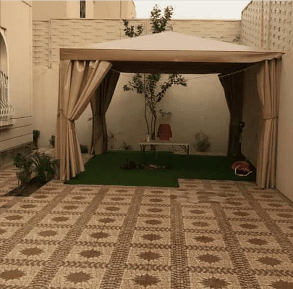 تركيب مظلات جلسات خارجية في الرياض